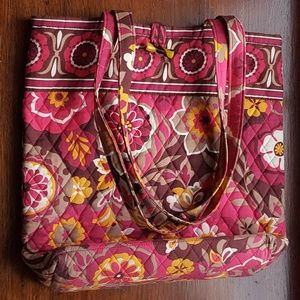 Vera Bradley Carnaby Quilted Floral Tote Bag Large